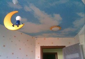 Натяжные потолки под Небо